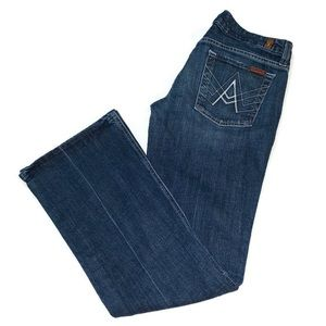 "7 For All Mankind ""A"" Pocket wide leg Jean 28x30"